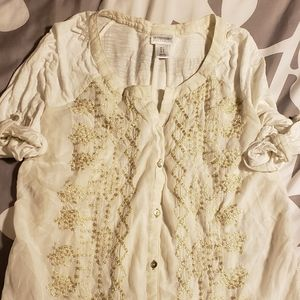 Maternity button-up top
